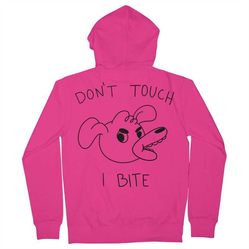 Don't touch, I bite! Men's French Terry Zip-Up Hoody by Alpacaramba!