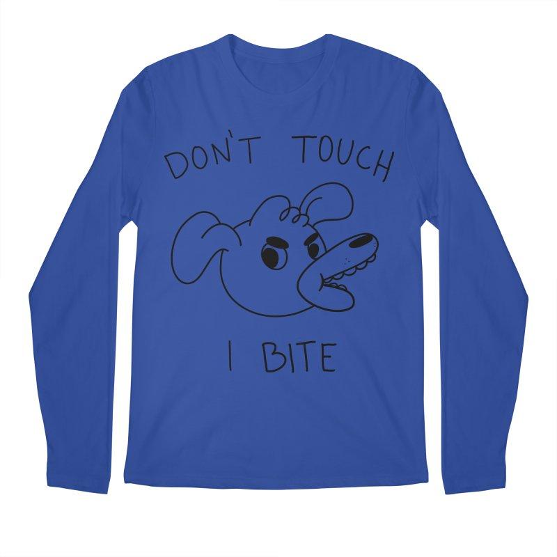 Don't touch, I bite! Men's Regular Longsleeve T-Shirt by Alpacaramba!