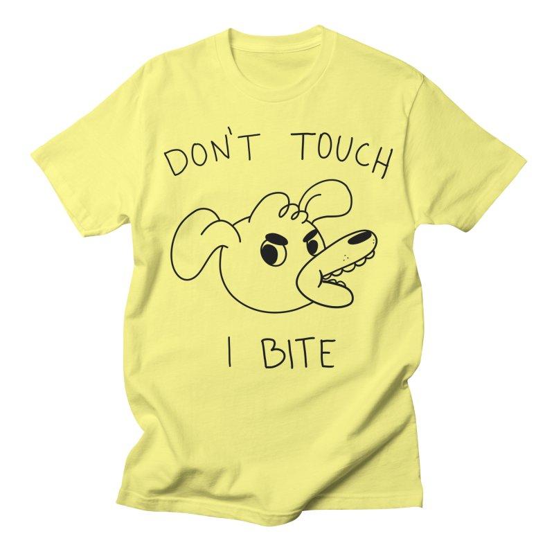 Don't touch, I bite! Men's Regular T-Shirt by Alpacaramba!