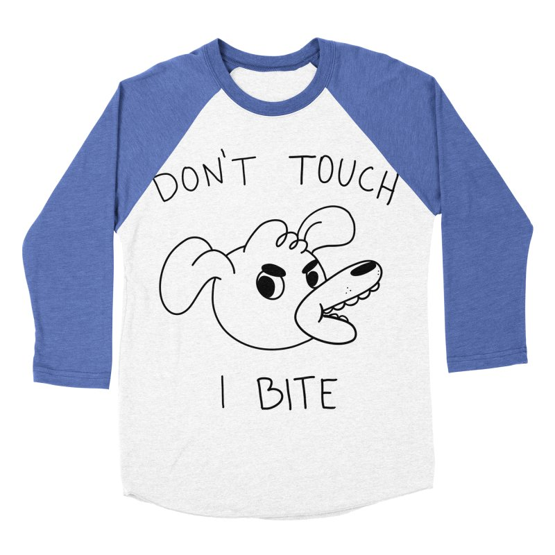 Don't touch, I bite! Men's Baseball Triblend Longsleeve T-Shirt by Alpacaramba!