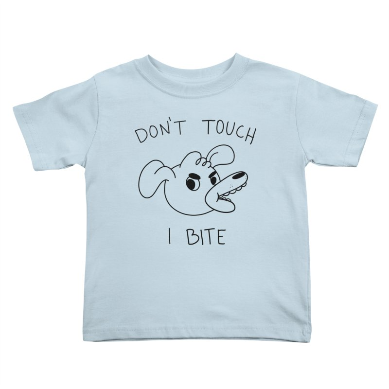 Don't touch, I bite! Kids Toddler T-Shirt by Alpacaramba!