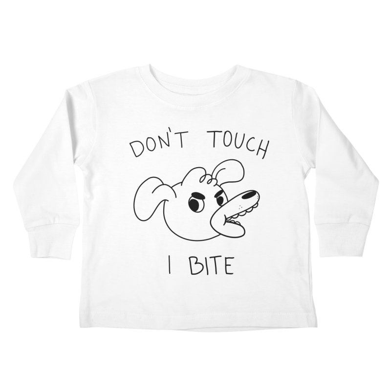 Don't touch, I bite! Kids Toddler Longsleeve T-Shirt by Alpacaramba!