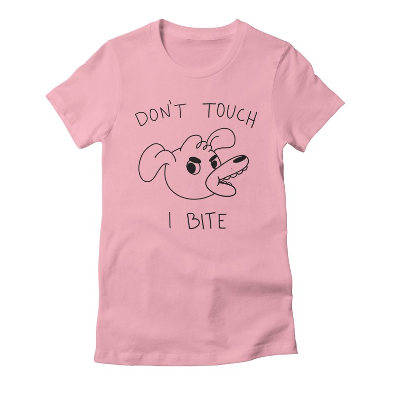 Don't touch, I bite! Women's Fitted T-Shirt by Alpacaramba!