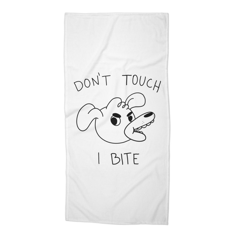 Don't touch, I bite! Accessories Beach Towel by Alpacaramba!