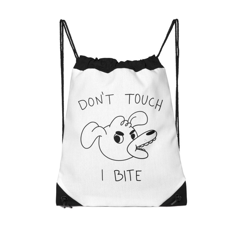Don't touch, I bite! Accessories Drawstring Bag Bag by Alpacaramba!