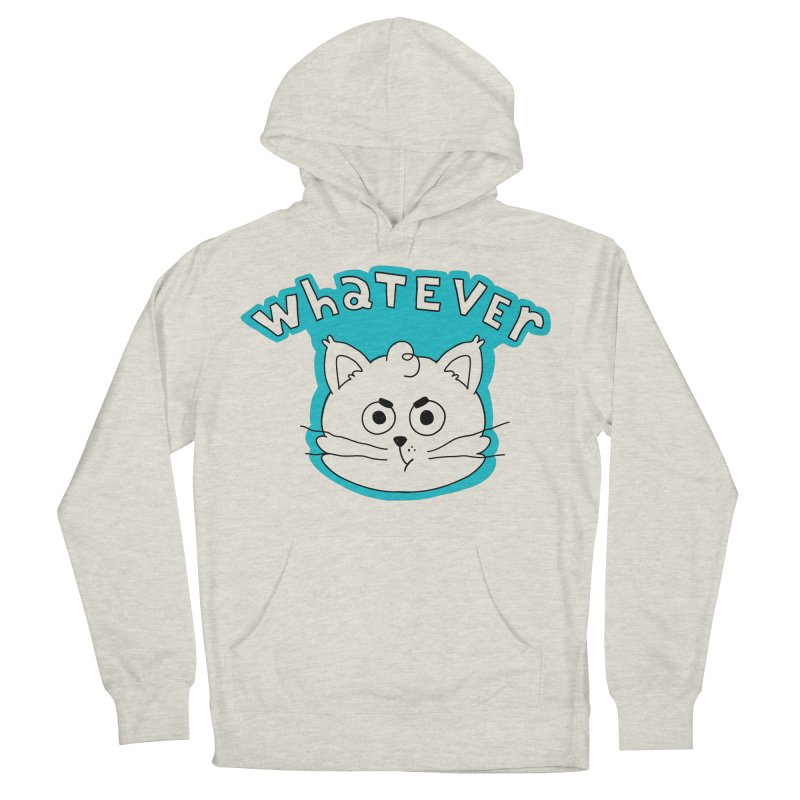This cat does not care. Men's French Terry Pullover Hoody by Alpacaramba!