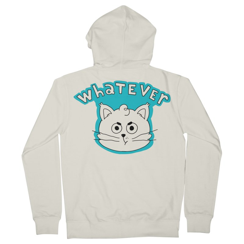 This cat does not care. Men's French Terry Zip-Up Hoody by Alpacaramba!