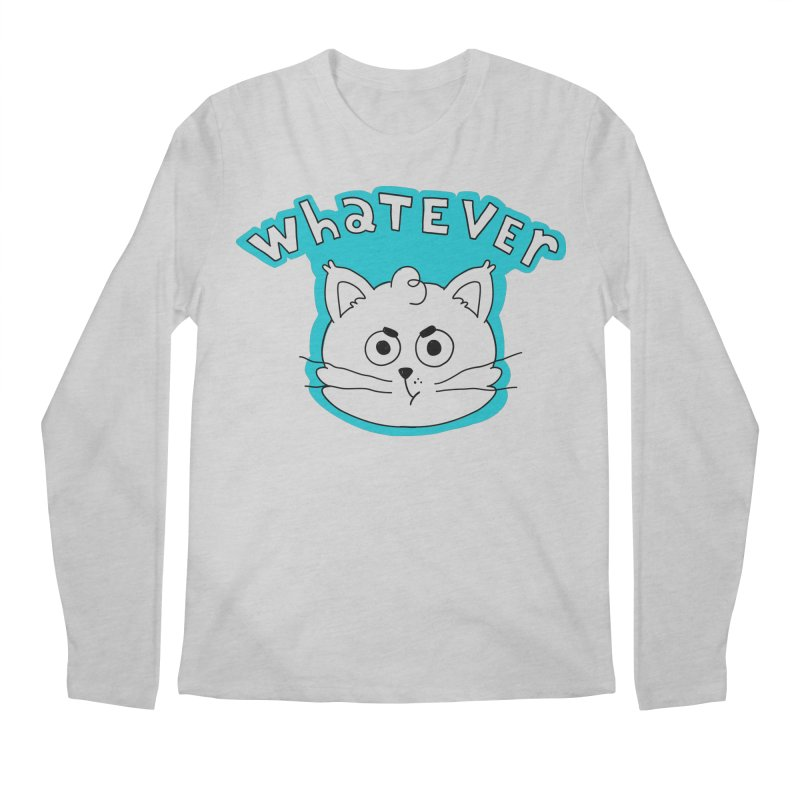 This cat does not care. Men's Regular Longsleeve T-Shirt by Alpacaramba!