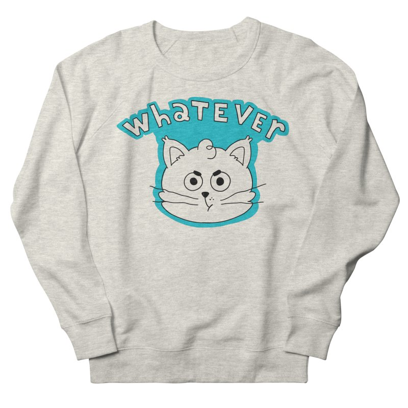 This cat does not care. Men's French Terry Sweatshirt by Alpacaramba!