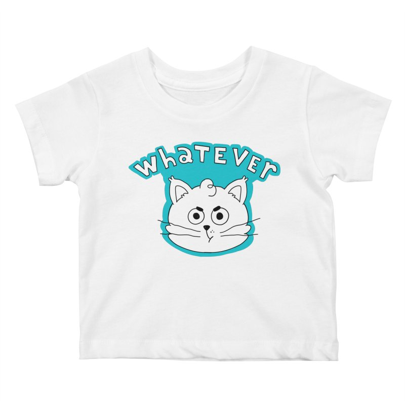 This cat does not care. Kids Baby T-Shirt by Alpacaramba!