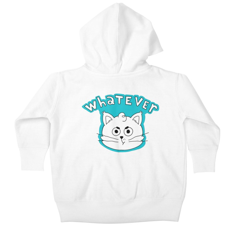 This cat does not care. Kids Baby Zip-Up Hoody by Alpacaramba!