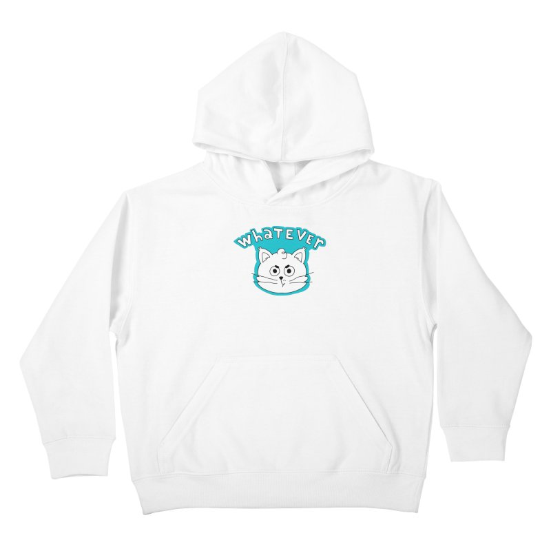 This cat does not care. Kids Pullover Hoody by Alpacaramba!