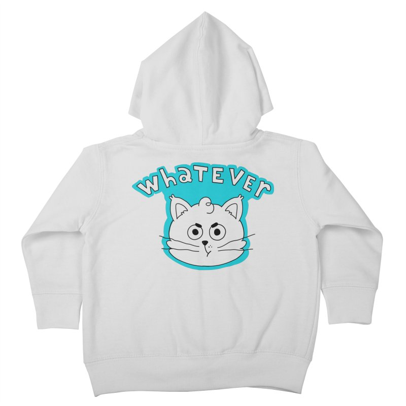 This cat does not care. Kids Toddler Zip-Up Hoody by Alpacaramba!