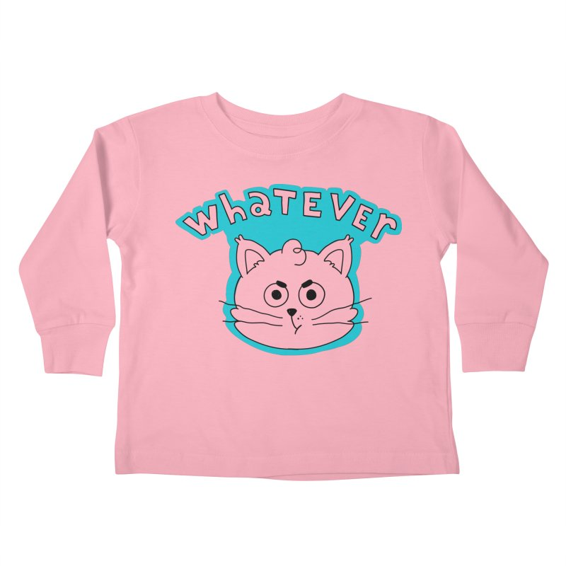 This cat does not care. Kids Toddler Longsleeve T-Shirt by Alpacaramba!