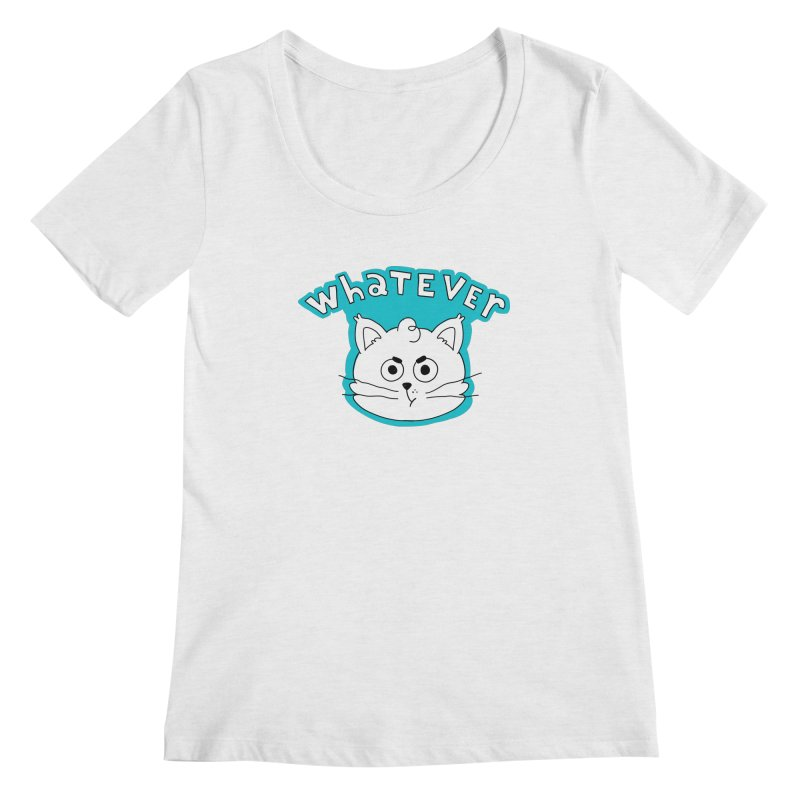 This cat does not care. Women's Regular Scoop Neck by Alpacaramba!