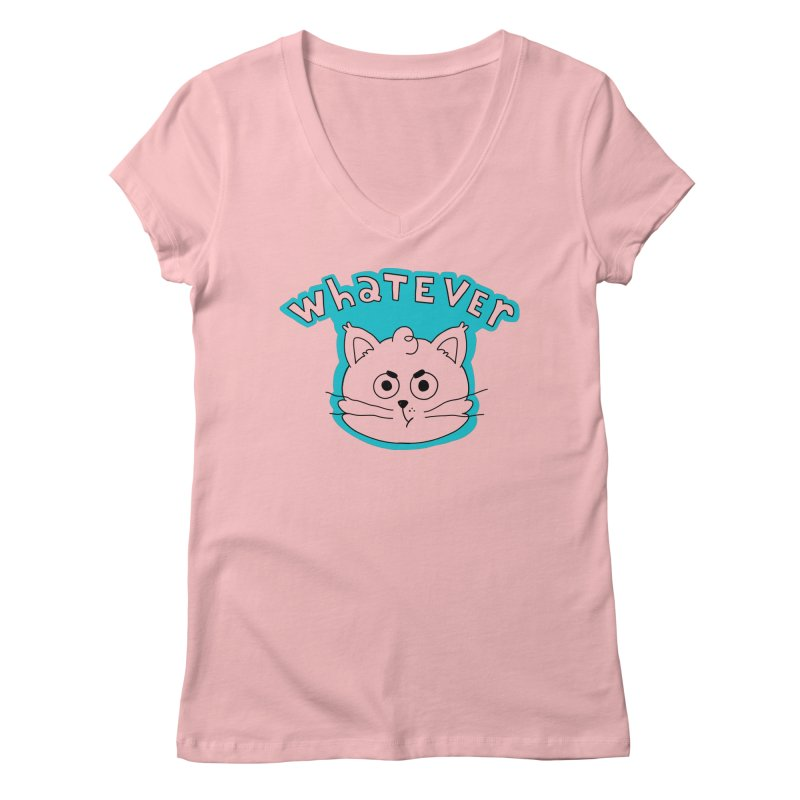 This cat does not care. Women's Regular V-Neck by Alpacaramba!