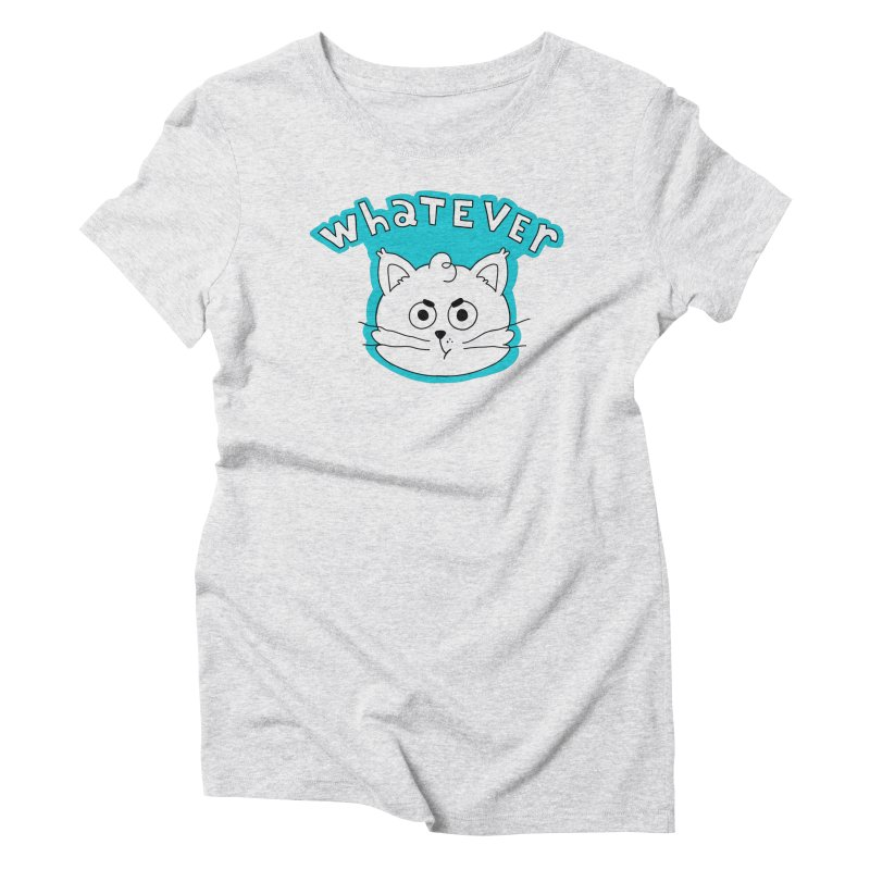 This cat does not care. Women's Triblend T-Shirt by Alpacaramba!