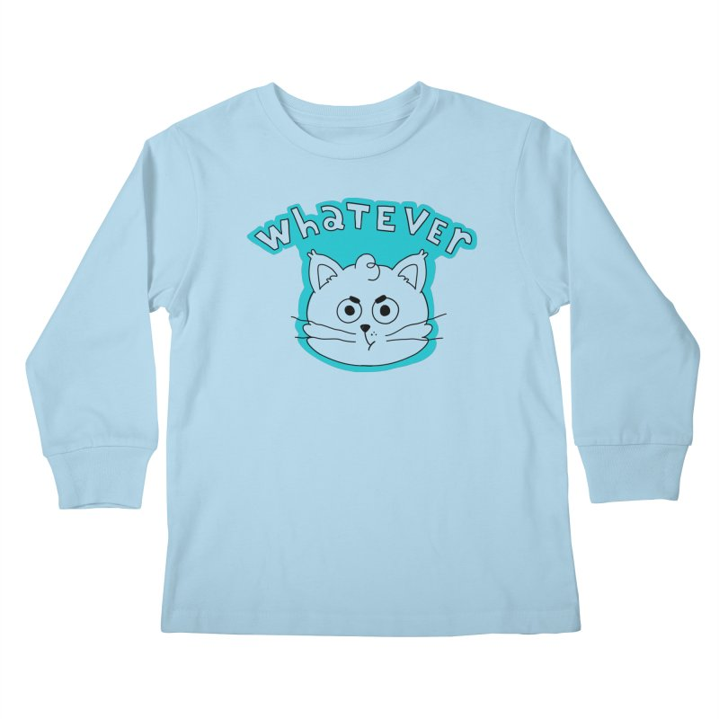 This cat does not care. Kids Longsleeve T-Shirt by Alpacaramba!