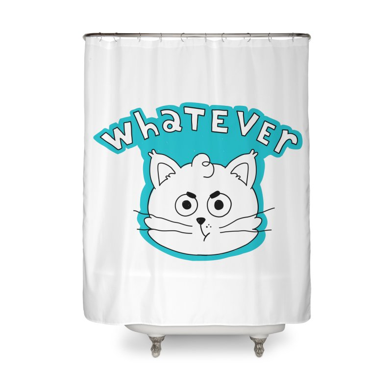 This cat does not care. Home Shower Curtain by Alpacaramba!
