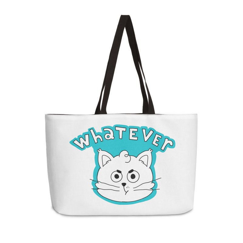 This cat does not care. Accessories Weekender Bag Bag by Alpacaramba!