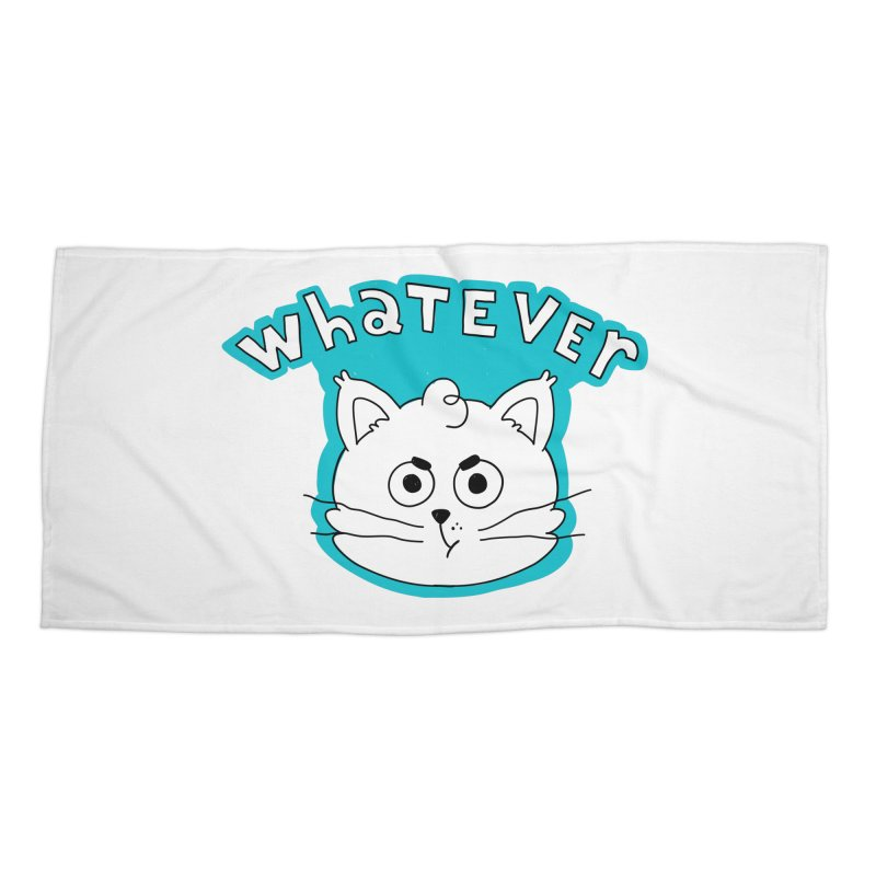 This cat does not care. Accessories Beach Towel by Alpacaramba!