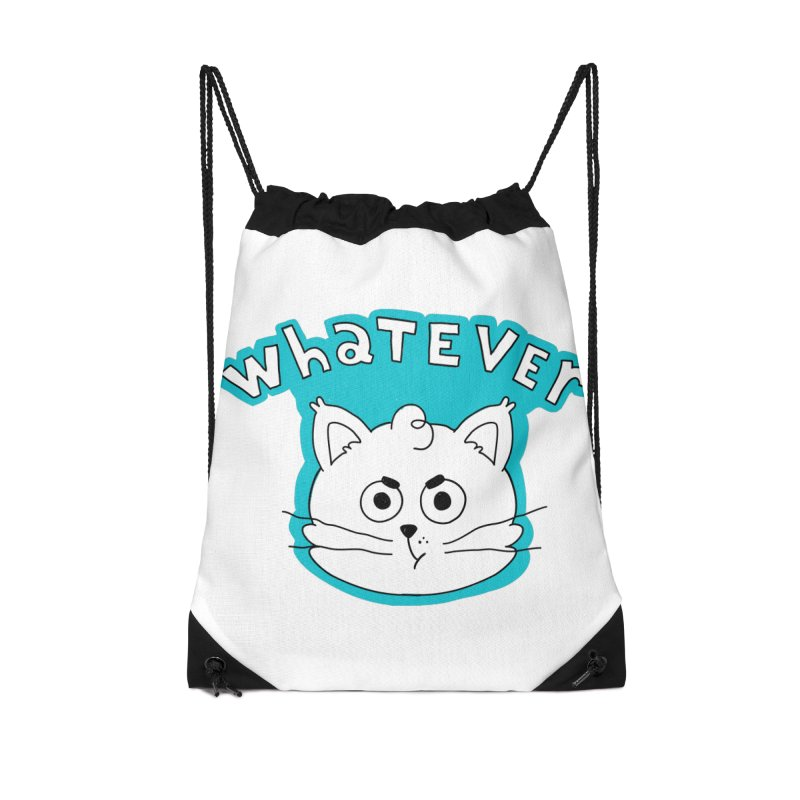 This cat does not care. Accessories Drawstring Bag Bag by Alpacaramba!
