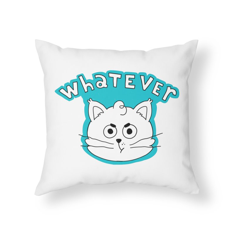 This cat does not care. Home Throw Pillow by Alpacaramba!