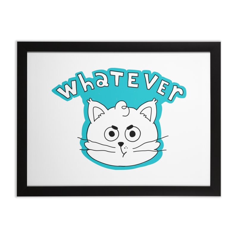 This cat does not care. Home Framed Fine Art Print by Alpacaramba!