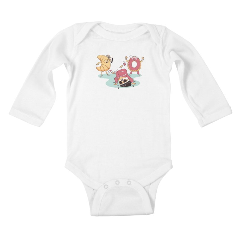 Coffee Break! Kids Baby Longsleeve Bodysuit by Alpacaramba!