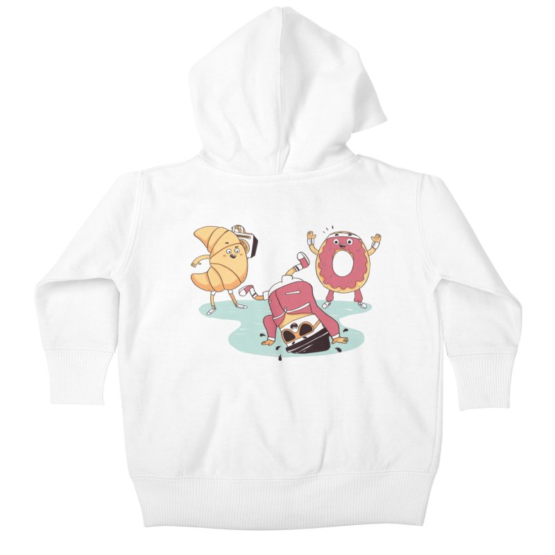 Coffee Break! Kids Baby Zip-Up Hoody by Alpacaramba!