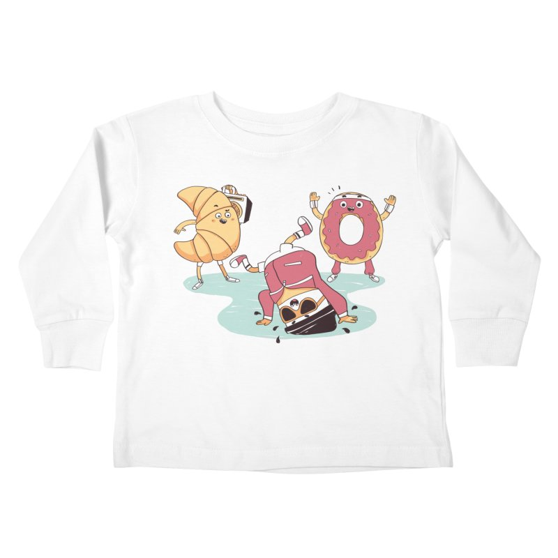 Coffee Break! Kids Toddler Longsleeve T-Shirt by Alpacaramba!