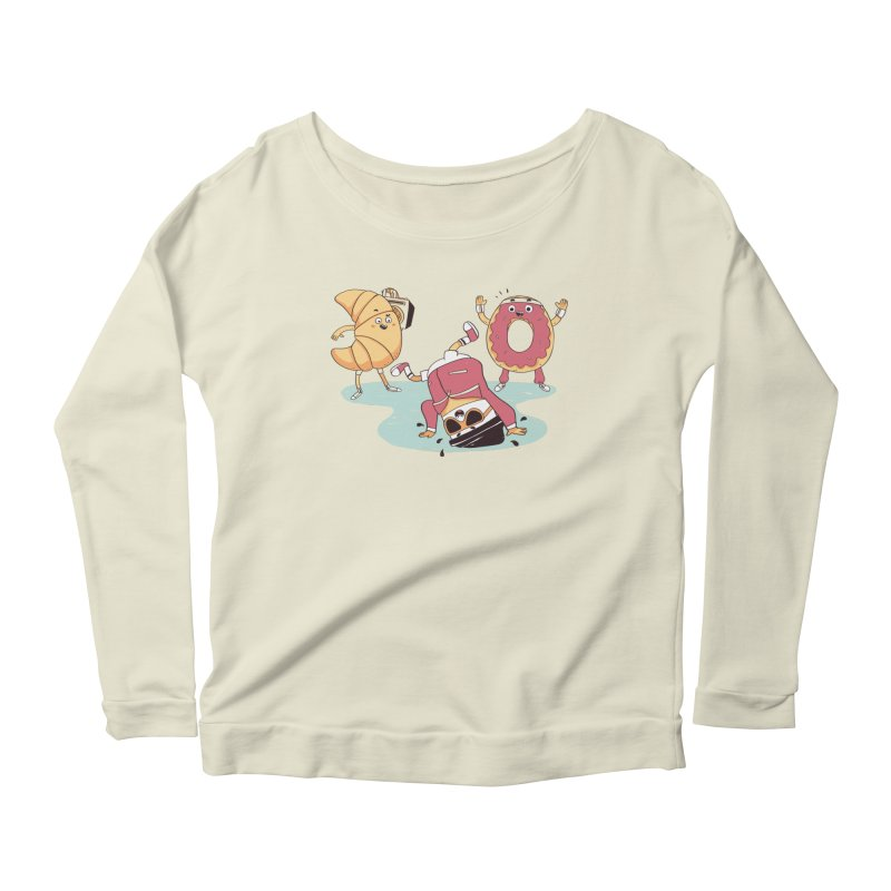 Coffee Break! Women's Longsleeve Scoopneck  by Alpacaramba!