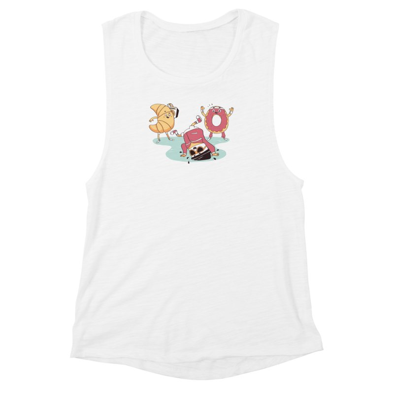 Coffee Break! Women's Muscle Tank by Alpacaramba!
