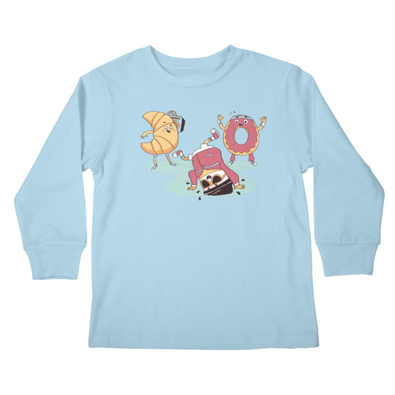 Coffee Break! Kids Longsleeve T-Shirt by Alpacaramba!