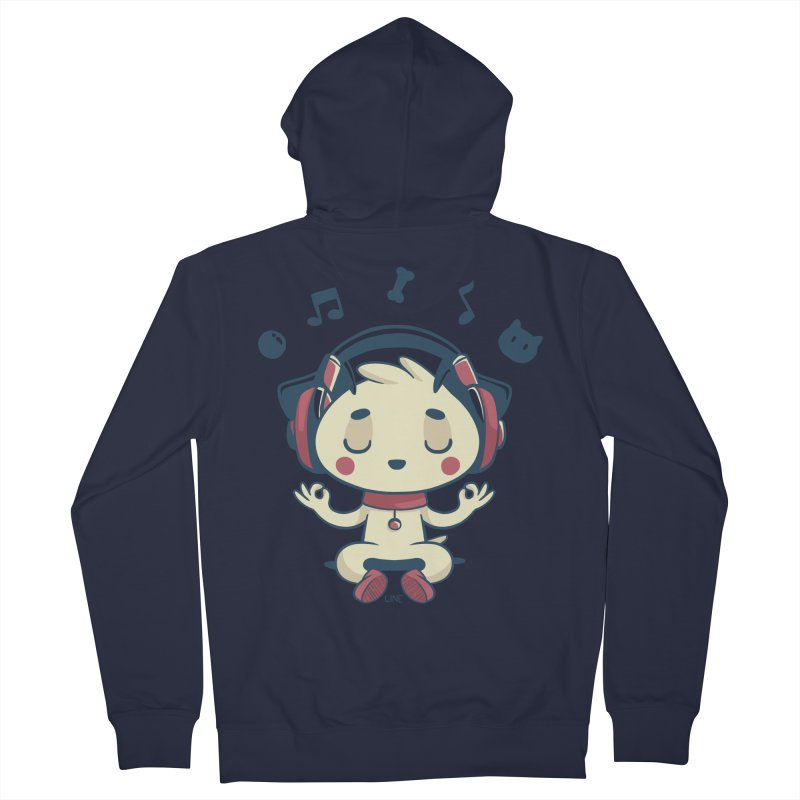 MUSIC IS FOR EVERYBODY! Women's French Terry Zip-Up Hoody by Alpacaramba!