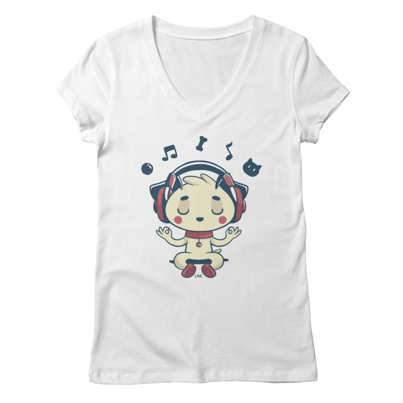 MUSIC IS FOR EVERYBODY! Women's V-Neck by Alpacaramba!