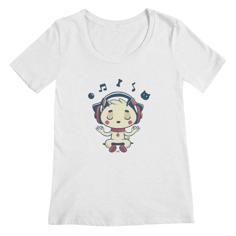 MUSIC IS FOR EVERYBODY! Women's Scoopneck by Alpacaramba!
