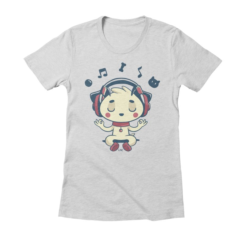 MUSIC IS FOR EVERYBODY! Women's Fitted T-Shirt by Alpacaramba!