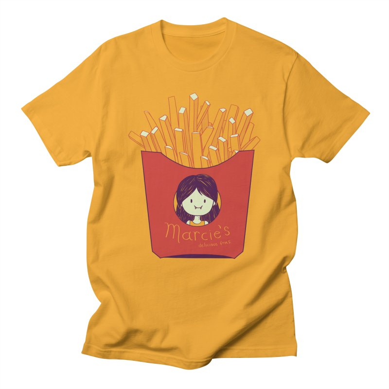 MARCIE'S FRIES Men's Regular T-Shirt by Alpacaramba!