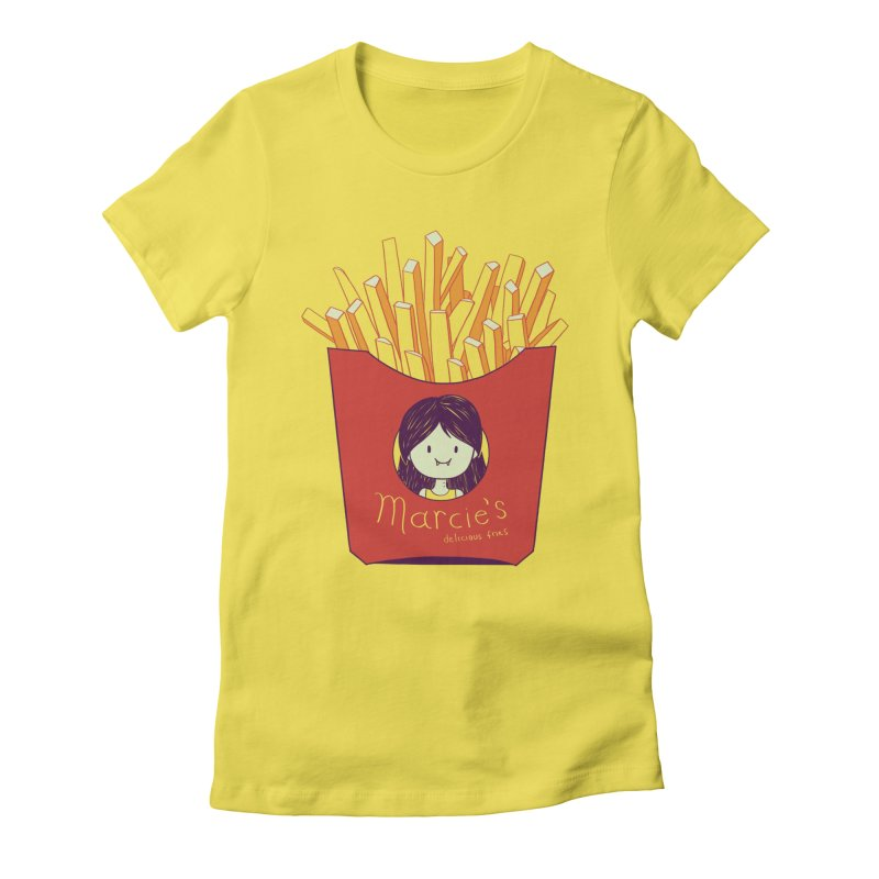 MARCIE'S FRIES Women's Fitted T-Shirt by Alpacaramba!