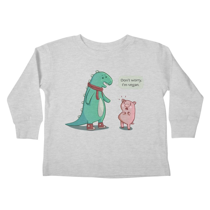 BACON IS TOO MAINSTREAM Kids Toddler Longsleeve T-Shirt by Alpacaramba!