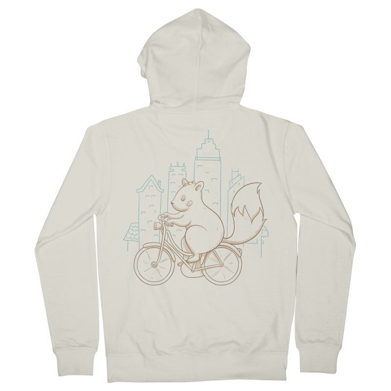 SERENE SQUIRREL Women's French Terry Zip-Up Hoody by Alpacaramba!