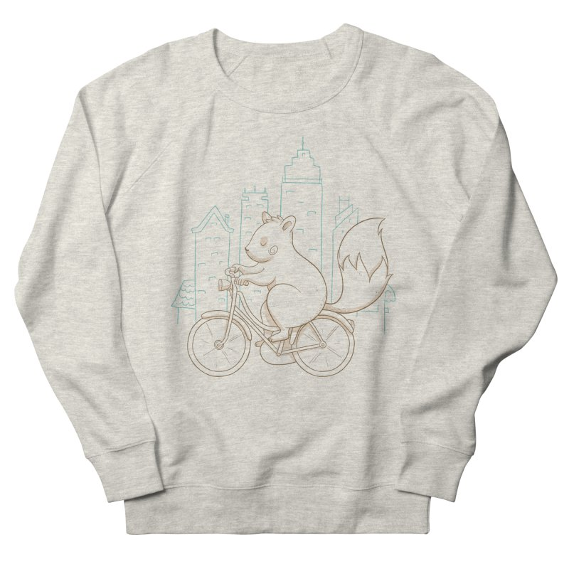 SERENE SQUIRREL Men's French Terry Sweatshirt by Alpacaramba!