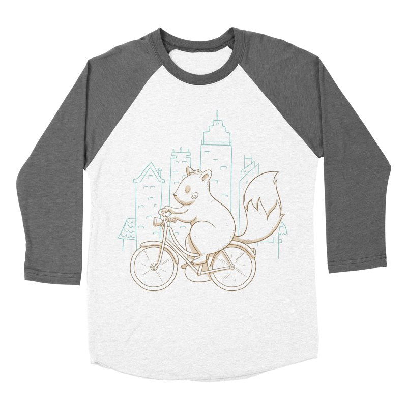 SERENE SQUIRREL Men's Baseball Triblend Longsleeve T-Shirt by Alpacaramba!