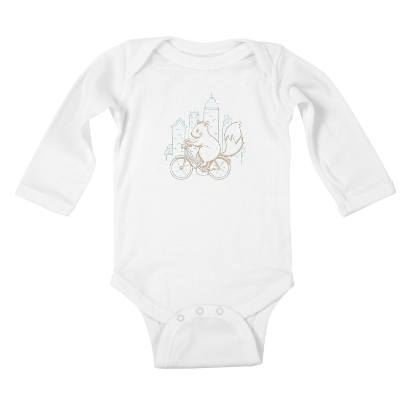 SERENE SQUIRREL Kids Baby Longsleeve Bodysuit by Alpacaramba!