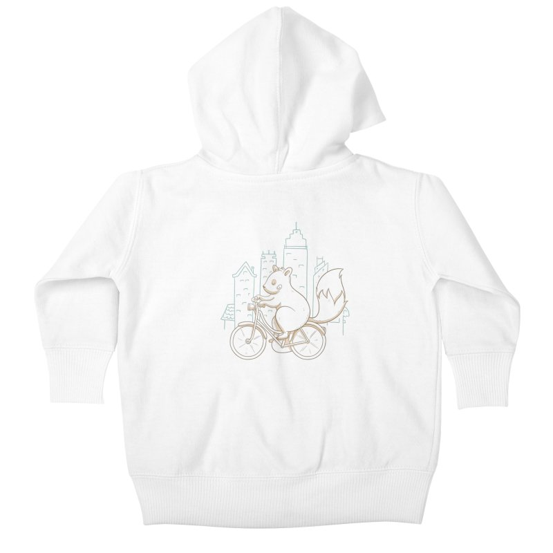 SERENE SQUIRREL Kids Baby Zip-Up Hoody by Alpacaramba!