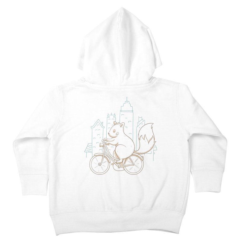 SERENE SQUIRREL Kids Toddler Zip-Up Hoody by Alpacaramba!