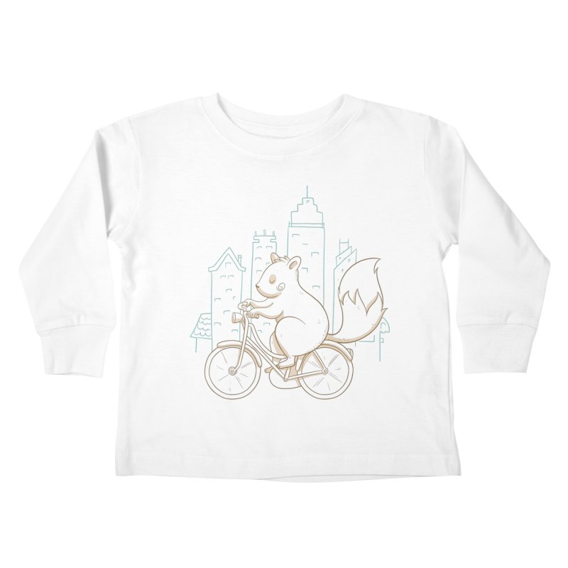 SERENE SQUIRREL Kids Toddler Longsleeve T-Shirt by Alpacaramba!