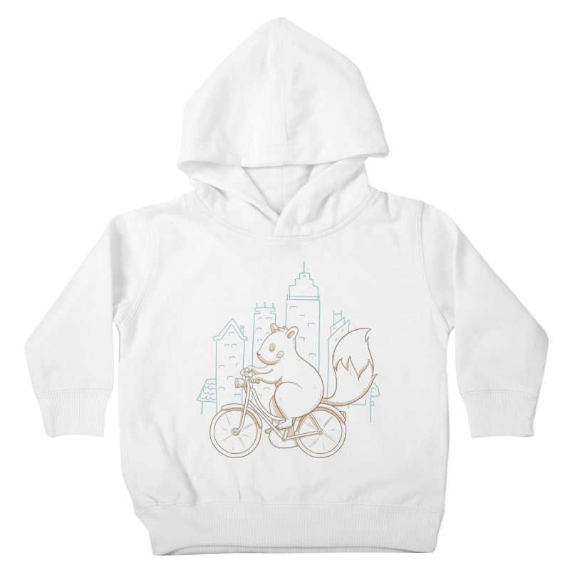 SERENE SQUIRREL Kids Toddler Pullover Hoody by Alpacaramba!