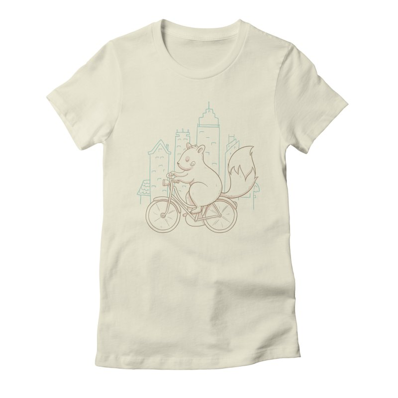 SERENE SQUIRREL Women's Fitted T-Shirt by Alpacaramba!